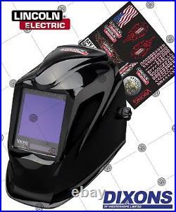 Lincoln Electric 3350 Viking Auto darkening Welding Helmet LARGE VIEW MIG TIG 4C