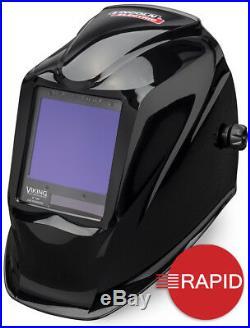 Lincoln Viking 3350 4C Black Auto Darkening Welding Helmet, Shade 6 13