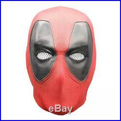 Luxurious Deadpool Mask Halloween Cosplay Latex Head Face Costume Prop Helmet