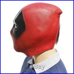 Luxurious Deadpool Mask Halloween Latex Head Face Cosplay Costume Prop Helmet UK
