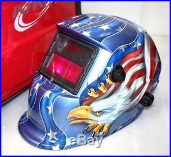 MIG-130 Flux Core Auto Wire Welder Machine withCooling & US Eagle Welding Helmet