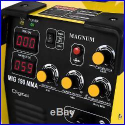 MIG Welder Welding machine set Helmet Gas bottle Wire 200A MAGNUM MIG 190 MMA