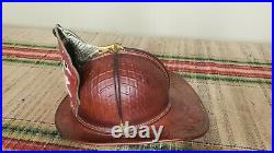 MINT 1969-1970 Cairns & Brother Waffle Comb Leather Fire Helmet High Eagle