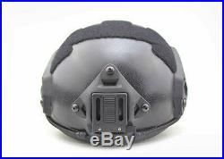 Maritime Ballistic IIIA Bullet Proof Helmet OPS Aramid Fiber M / L Black Color