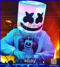 MarshMello Helmet DJ LED Helmet Cosplay Light Up Party Halloween Costume Prop