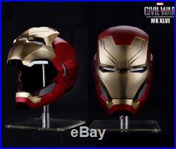 Marvel Captain America Civil War 1/1 Iron Man MK46 Helmet Automatic On-off