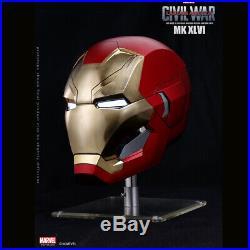 Marvel Captain America Civil War 1/1 Iron Man MK46 Helmet Automatic On-off Model