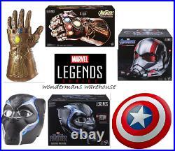 Marvel Legends Series Infinity Gauntlet/Black Panther & Antman Helmets/Shield