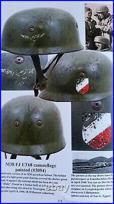 Meland German Helmets 1916-1945 Fallschirmjäger Stahlhelm 1500 Abb M16 M42