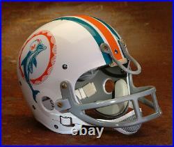 Miami Dolphins style NFL Vintage Suspension Football Helmet LARRY CSONKA 1972