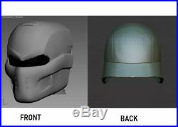 Military, Army, Bulletproof Helmet With Mask. Ballistic Level 3A