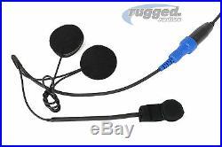 Motorcycle Communication Helmet Speakers & Mic Kit Kenwood 2-Pin Style Radios