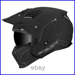 Mt Streetfighter Sv Solid Matt Black Modular Motorcycle Motorbike Bike Helmet