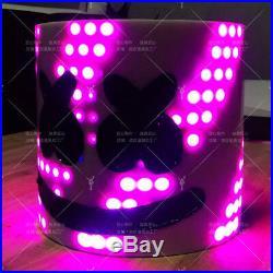 Music Bar DJ Mask Tiesto MarshMello LED Head Helmet Cosplay Fancy Party Props