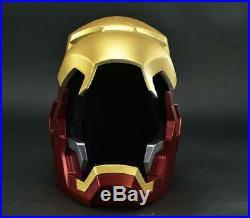 NEW 11 Full metal The Avengers Iron Man MK42 with LED eye Helmet Remote Control