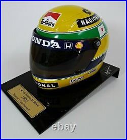 NEW Ayrton Senna 1992 Scale 12 Helmet F1 Team McLaren