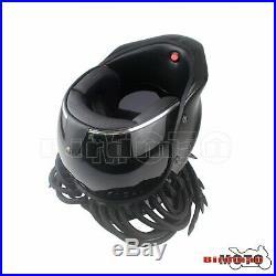 NEW Black Predator Helmet Mask Carbon Fibre Motorcycle Iron Man Full Face Helmet