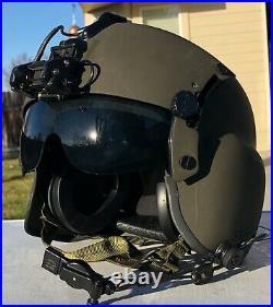 NEW SMALL HGU56P PILOT FLIGHT HELICOPTER HELMET HGU 56 With FLIGHT BAG, NVG, COMM