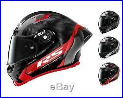 NEW X-Lite X803 RS Carbon HOT LAP Removable Spoiler/Dark Visor Motorbike Helmet