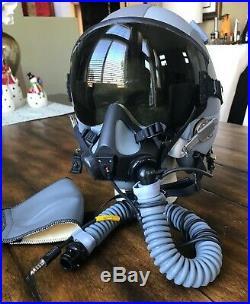 New Complete Hgu55 Mbu 20 Gentex Flight Helmet Oxygen Mask XL & Med Wide & Bag