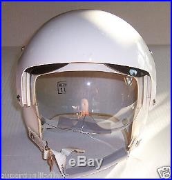 New HGU-26 p Dual Visor Jet Flight Helmet Flyers large Gentex HGU26 withfoam pads