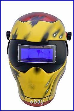New Save Phace EFP-I Series Welding Helmet Marvel Iron Man 180 4/9-13 ADF Lens