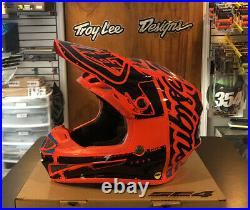 New Troy Lee Designs SE4 Factory Orange Youth Medium MX Helmet TLD Motocross KTM