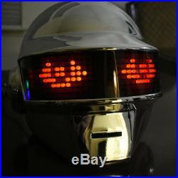 New Years 2019 Daft Punk Helmet Thomas Discovery Era with LEDs Chromed Mask DJ