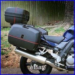 Newly Motorcycle Trunk Waterproof Lock Tail Box Raincoat Helmet Storage Top Case