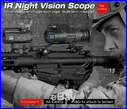 Night Vision Rifle Scope Monocular Goggle Mountable To Helmet Ir Hunting