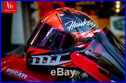 Nuovo Casco Moto Integrale Carbonio Mt Helmets Kre Omologato Fim Racing Ece Dot