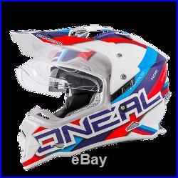 O Neal Sierra 2 Adventure Motocross Helmet Blue Off Road Dual Sport Motorcycle