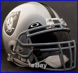 OAKLAND RAIDERS NFL Authentic GAMEDAY Football Helmet with OAKLEY Eye Shield
