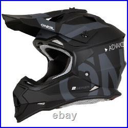 Oneal 2 Series RL Slick MX Helmet Motocross Off-Road Motorcycle Black Grey J&S