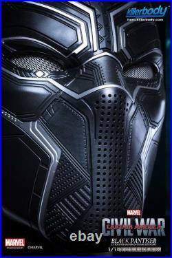 Original Killerbody 1/1 Captain America Black Panther Wearable Helmet Super COOL