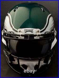 PHILADELPHIA EAGLES NFL Authentic GAMEDAY Football Helmet with OAKLEY Eye Shield