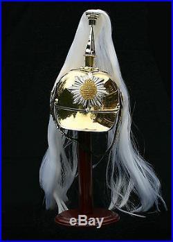 Pickelhaube Paradehelm Sachsen spiked helmet shako Kaiserreich Larp saxon R159