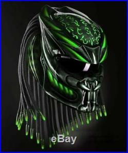 Predator Carbon Fiber DOT Approved Alien vs Predator Custom Motorcycle Helmet