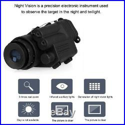 Professional 2x30 Infrared Digital Night Vision Riflescope Telescope Helmet Use