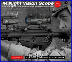 Professional 2x30 Infrared Digital Night Vision Riflescope Telescope Helmet Use