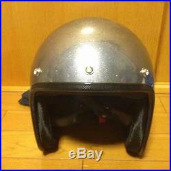 RAT FINK Jet Helmet METAL FLAKE Silver HELMET ED Big Daddy Roth Kustom MOONEYES