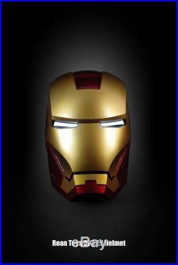 ROAN Toys Tony Stark Iron Man Mark3 MK3 1/1 Helmet Mask Auto Light Up In Stock