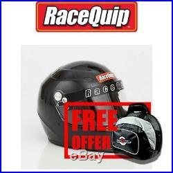 RaceQuip 273005 Black Large PRO15 Helmet SA2015 Free Helmet Bag Included