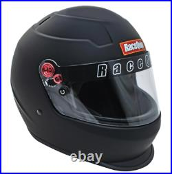 RaceQuip 276995 PRO20 Full Face Helmet Snell SA2020 Rated Flat Black Large