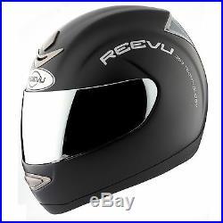 Reevu Msx 1 Rear View Motorcycle Helmet Black Matte
