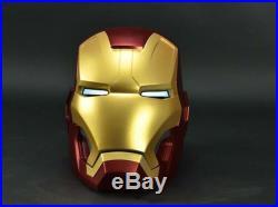 Remote Metal Version CATTOYS 1/1 All Metal Made Iron Man MK42 Helmet AVENGERS