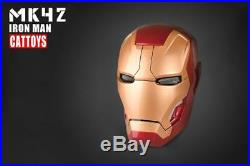 Remote Version 11 Full Scale MK42 Iron Man Wearable ABS Helmet Mark42 Mask