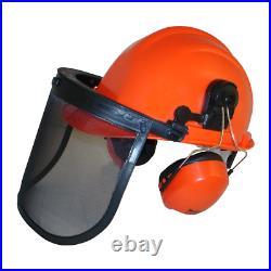Rocwood Forestry Chainsaw Safety Helmet Hat Ear Defenders Metal Visor
