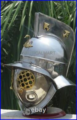 Roman Gladiator Medieval Armour Helmet