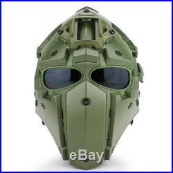 Ronin Devtac Style Airsoft Helmet Full Face Protection Black Tan Green